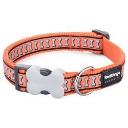 Red Dingo Reflective Orange Medium Dog Collar