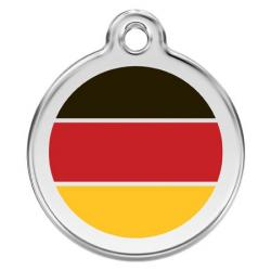 Red Dingo Médaille German Flag Small