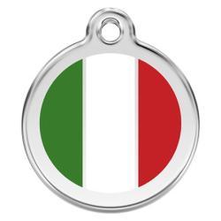 Red Dingo Dog ID Tag Italian Flag Small