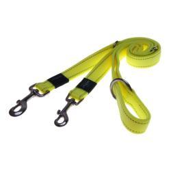 Rogz Utility Fanbelt Dayglo Yellow multi-purpose lead 160cm Large