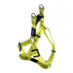 Rogz Utility Nitelife Dayglo Yellow Small Step-In Dog Harness