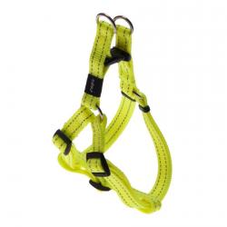 Rogz Utility Snake Dayglo Yellow Medium Step-In Dog Harness