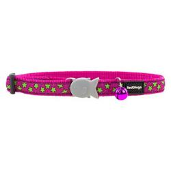 Red Dingo Cat Collar Stars Hot Pink