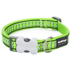 Red Dingo Reflective Lime XS Dog Collar