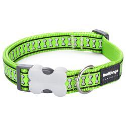 Red Dingo Reflective Lime Medium Dog Collar