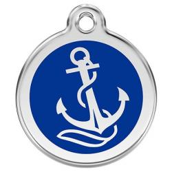 Red Dingo Dog ID Tag Anchor Small