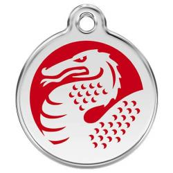 Red Dingo Dog ID Tag Red Dragon Small