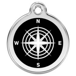 Red Dingo Dog ID Tag Compass Small