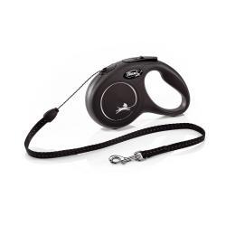 Flexi classic cord small black 5 meter