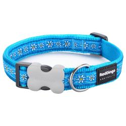 Red Dingo Daisy Chain Turquoise XS Dog Collar