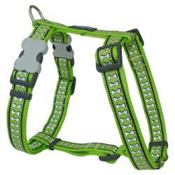 Red Dingo Reflective Lime XLarge Dog Harness