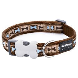 Red Dingo Bone Yard Brown Small Dog Collar