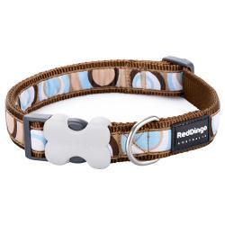 Red Dingo Circadelic Brown Small Dog Collar