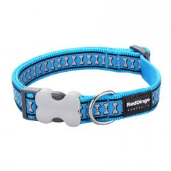 Red Dingo Reflective Turquoise Small Dog Collar