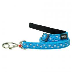 Red Dingo Stars Turquoise dog lead 100-180 cm Small