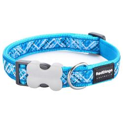Red Dingo Flanno Turquoise XS Dog Collar