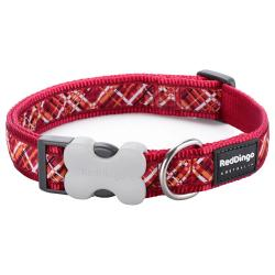 Red Dingo Flanno Red Small Dog Collar