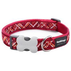 Red Dingo Flanno Red Medium Dog Collar