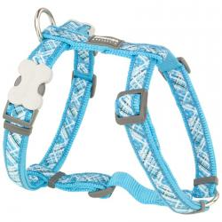 Red Dingo Flanno Turquoise Large Dog Harness