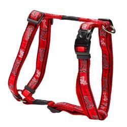 Rogz Fancy Dress Beach Bum Dog Harness Large / Red Bones