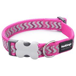 Red Dingo Reflective Ziggy Hot Pink Small Collier