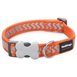 Red Dingo Reflective Ziggy Orange Large Collar