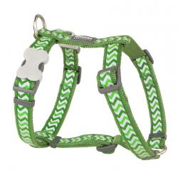 Red Dingo Reflective Ziggy Green XS Dog Harness