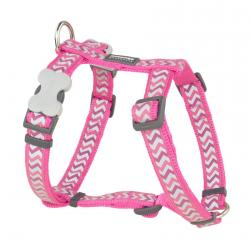 Red Dingo Reflective Ziggy Hot Pink XS Dog Harness