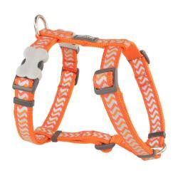 Red Dingo Reflective Ziggy Orange XS Dog Harness