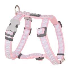 Red Dingo Reflective Ziggy Pink XS Dog Harness