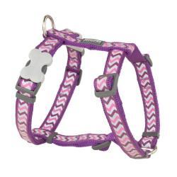 Red Dingo Reflective Ziggy Purple XS Dog Harness